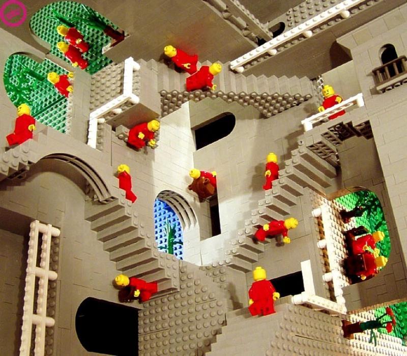 LEGO Escher Andrew Lipson and Daniel Shiu make wonderful creations using LEGO.
